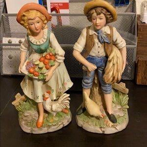HOMCO Farmer boy and Farmer girl